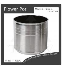 (TF-40SWL) 圓型不銹鋼花盆(底部附輪子)