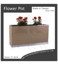 (TF-80TB) 烤漆花台(木紋色)