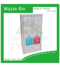 (TH2-103S) 不銹鋼二分類資源回收桶