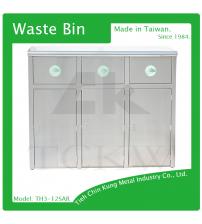 (TH3-12SAR) 不銹鋼三分類資源回收桶