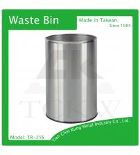 (TR-25S) 不銹鋼圓形垃圾桶