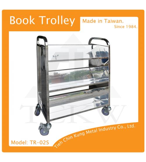 (TR-02S) 三層不銹鋼還書車