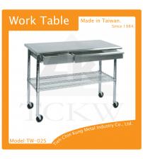(TW-02S) 二抽屜不銹鋼工作桌