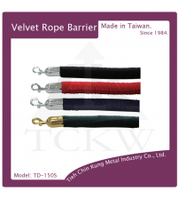 (TD-150S) 絨繩-電鍍勾頭